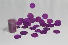 Confettis de scène en forme de ronds violet prune 100 grammes papier de soie