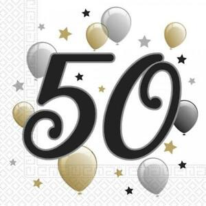 50. Geburtstag Party Servietten