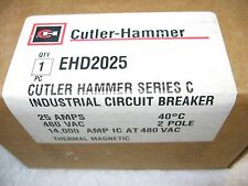 Cutler-Hammer EHD2025 Thermal Magnetic Circuit Breaker 25 Amp 2-Pole 480 Vac
