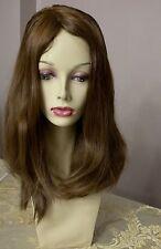 MEDIUM BROWN #8 EUROPEAN HUMAN HAIR WIG 14 IN SHEITAL STRAIGHT SUMMER NEW