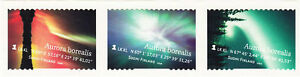 Northern Lights Aurora Borealis Lapland Finland Mint Strip MNH 2009