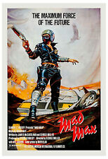1980's Sci-Fi  * Mad Max *  Mel Gibson Movie Poster 1980  24 x 36 in Size