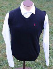 Men's Black Polo Ralph Lauren 100% Cashmere Vest EUC Size Large