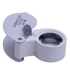 40x fach Juwelier Uhrmacher Lupe LED Brillenlupe Lupenbrille Vergrößerungsglas