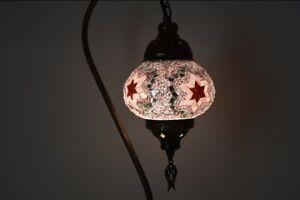 Traditional Desk Mosaic Brown Color Desk Lamp Swan Neck Lamp Bedsidetable Decor