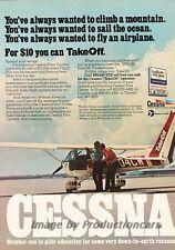 1977 Cessna Private Plane Aircraft Original Advertisement Print Art Ad J815