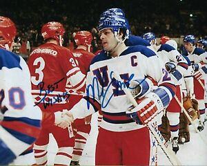 GFA 1980 Miracle on Ice Captain MIKE ERUZIONE Signed 8x10 Photo M6 COA