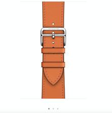 Apple Watch Hermes 44mm Swift Leather Single Tour Orange 2020