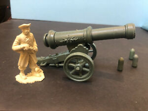 1950's Marx 60mm Pirate & Fortress Play Set SP Shooting Cannon