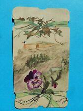 IMAGE PIEUSE  dessin GOUACHE PENSEE AQUARELLE FORTIN LIGNE MAGINOT 1919    THFR