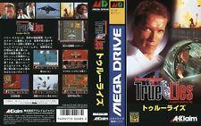 True Lies locale MEGA DRIVE JAPAN JP RICAMBIO box-art INSERTO COVER