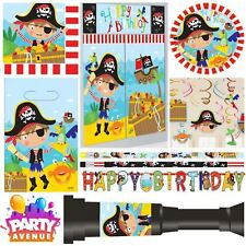 Little Pirate Party Child Caribbean Buccaneer Birthday Decorations Tableware