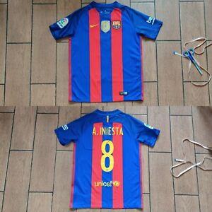 Football shirt soccer Barcelona Home 2016/2017 Nike jersey Kids Youth Iniesta #8