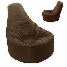 Brown Large Bean Bag Gamer Beanbag Adult Outdoor Gaming Garden Big Arm Chair