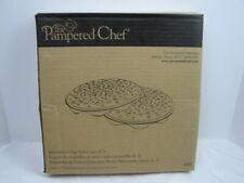 Pampered Chef Microwave Chip Maker. #1241. Set of 2. Black