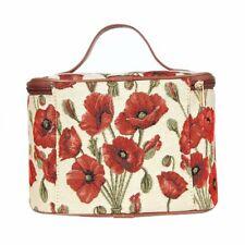 Kosmetik Tasche Mohnblume Blume Beutel Etui Kulturbeutel Nessesair Gobelin