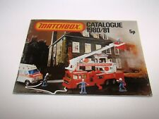 Matchbox Superfast 1980/81 Catalogue UK Edition - No Graffiti - Very Good/Exc