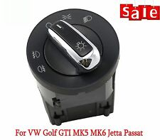 For VW Golf GTI MK5 MK6 Jetta Passat caddy CHROME Headlight Fog Lights Switch
