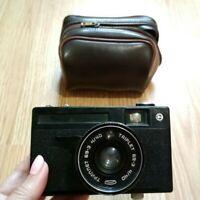 Vintage Vilia Orion Camera Soviet Russion USSR Lens Triplet 69-3 4/40 Black Film