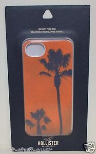 HOLLISTER ORANGE PALM TREE GRAPHIC VINTAGE PLASTIC HARD IPHONE 5 5S CASE SLEEVE