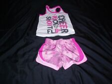 Girls Danskin Now 2 Pc Outfit Size 4-5. Shorts and Shirt Good Pre Owned