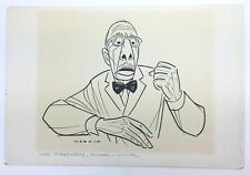Igor STRAVINSKY (Composer): Original Drawing by Sam NORKIN (Caricaturist)