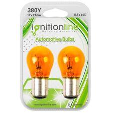 2 x 380 Amber 12V P21/5W Car Indicator Bayonet Twin Filament Bulbs BAY15D
