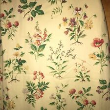 2 JC Penney Home Collection Yellow Floral Cotton Curtain Panels Lined USA 80x84