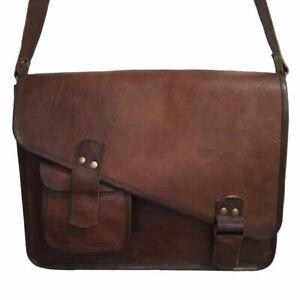 Bag Men's Leather Vintage Shoulder Large Brown Satchel Handbag New Genuine Bag
