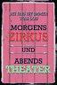 Zirkus und Theater Blechschild Schild gewölbt Metal Tin Sign 20 x 30 cm