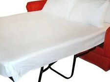 Comfort Sleeper Sofa Bed Sheet Set 600tc Egyptian Cotton White Solid Twin Size