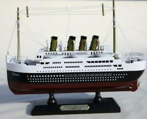 Detailed Wooden Model of Titanic