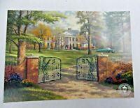 "Thomas Kinkade ""Graceland 50th Anniversary"" Postcard 6"" x 4""  Elvis Presley"