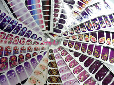 20 Sheets Nail Art Decal Sticker Water Slide Transfer Full Size Mixed Colors
