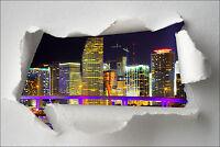 Sticker Trompe l'oeil papier déchiré déco City réf 375