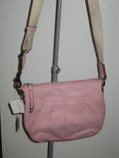 NWT Coach Leather Pleated Swingpack Handbag - Pink - Style 42833 - with defect