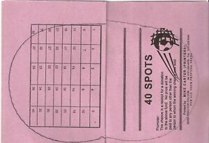 50 Tickets - Spot the Ball - 40 Spaces - Ideal for Club / Pub Fundraising