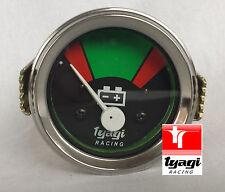 Vintage Van CAR Tractor Gauge Clock 12V BATTERY METER CHROME DIAL Ammeter
