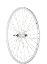 MTB Rear Wheel Nutted Screw On silver 26 inch