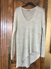 Helmut Lang Heather Light Grey Sweater Size Petite