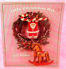Jolly Christmas Day Tole Painting Pattern Book by Betty Headman Santa Ornaments
