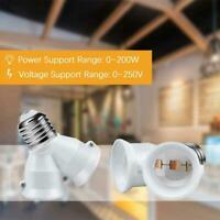 2 in 1 E27 zu B22 Sockeladapter Konverterhalter für LED-Glühlampen Zugang X6L0