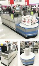 Checkout Counter Electric Belt Check Lane & Bag Holder Grocery Store Equipment