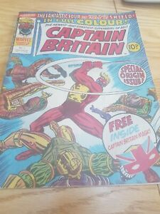Captain Britain Comic vol 1, 1976 with Mask. Rare edition. Film out next year