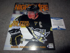 "SIDNEY CROSBY Pittsburgh Penguins SIGNED ""Nightwire"" Magazine w/ BAS COA"