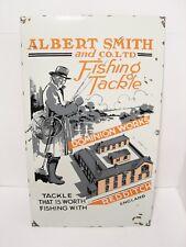 Vintage Albert Smith & Co Redditch Enamel Match Aerial Advertising Trade Sign