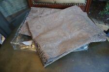 Set of 2 Sferra Barrett 3265 King Pillow Sham Brown Jacquard bedding cord euro
