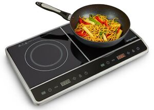 Emperial 2800W Portable Twin Induction Hob Digital Dual Electric Cooker