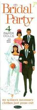 Vintage Uncut 1968 Bridal Party Paper Dolls Boxed Set~#1 Reproduction~Nostalgic