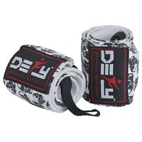 "Weight Lifting Wrist Wraps Gym Fitness Workout Training Straps 18"" Long Skull"